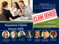 The Insurance Claims Forum 2019, May 29, 30, 31  2019. Emperor's Palace, Johannesburg, South Africa