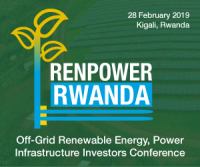 Renpower Rwanda 2019 – The Off-Grid Renewable Energy, Power Infrastructure Investors Conference Date: 28th February 2019 Location: Kigali, Rwanda